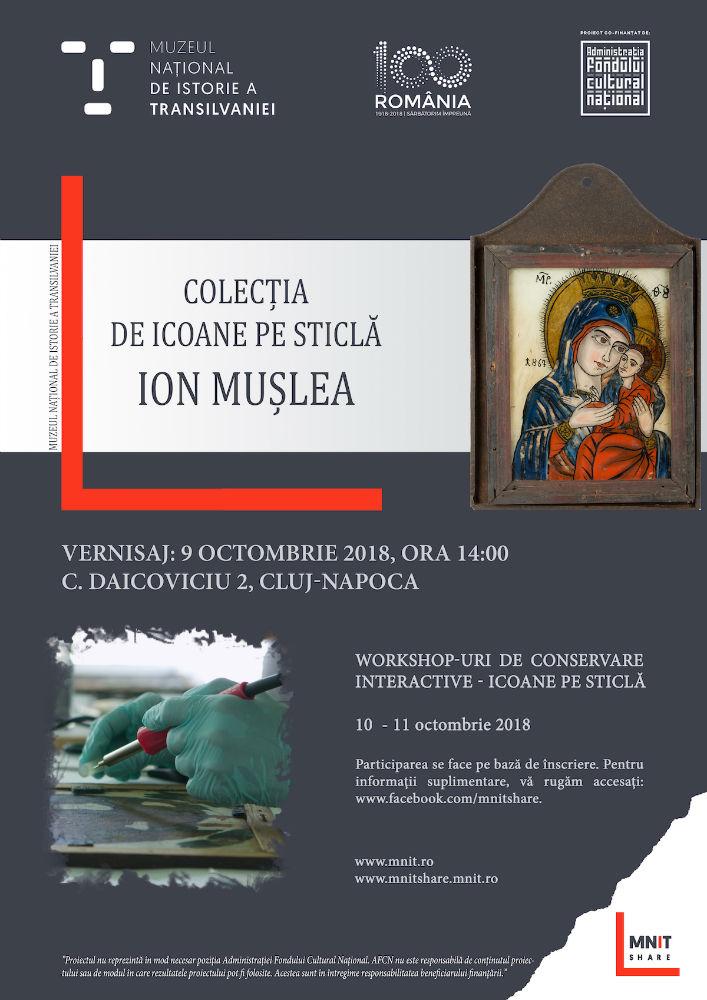 """Colecţia de Icoane pe sticlă """"Ion Muşlea"""", prezentată Muzeul Naţional de Istorie al Transilvaniei!"""