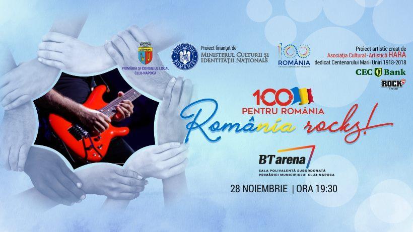 """Evenimentul """"100 pentru România"""" la BT Arena va fi SOLD OUT! 100 de artişti din 4 generaţii vor face show în an Centenar la Cluj-Napoca!"""