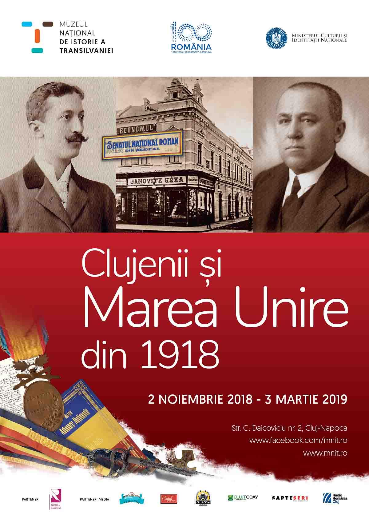 """Expoziţia """"Clujenii şi Marea Unire din 1918"""", la Muzeul Naţional de Istorie al Transilvaniei"""