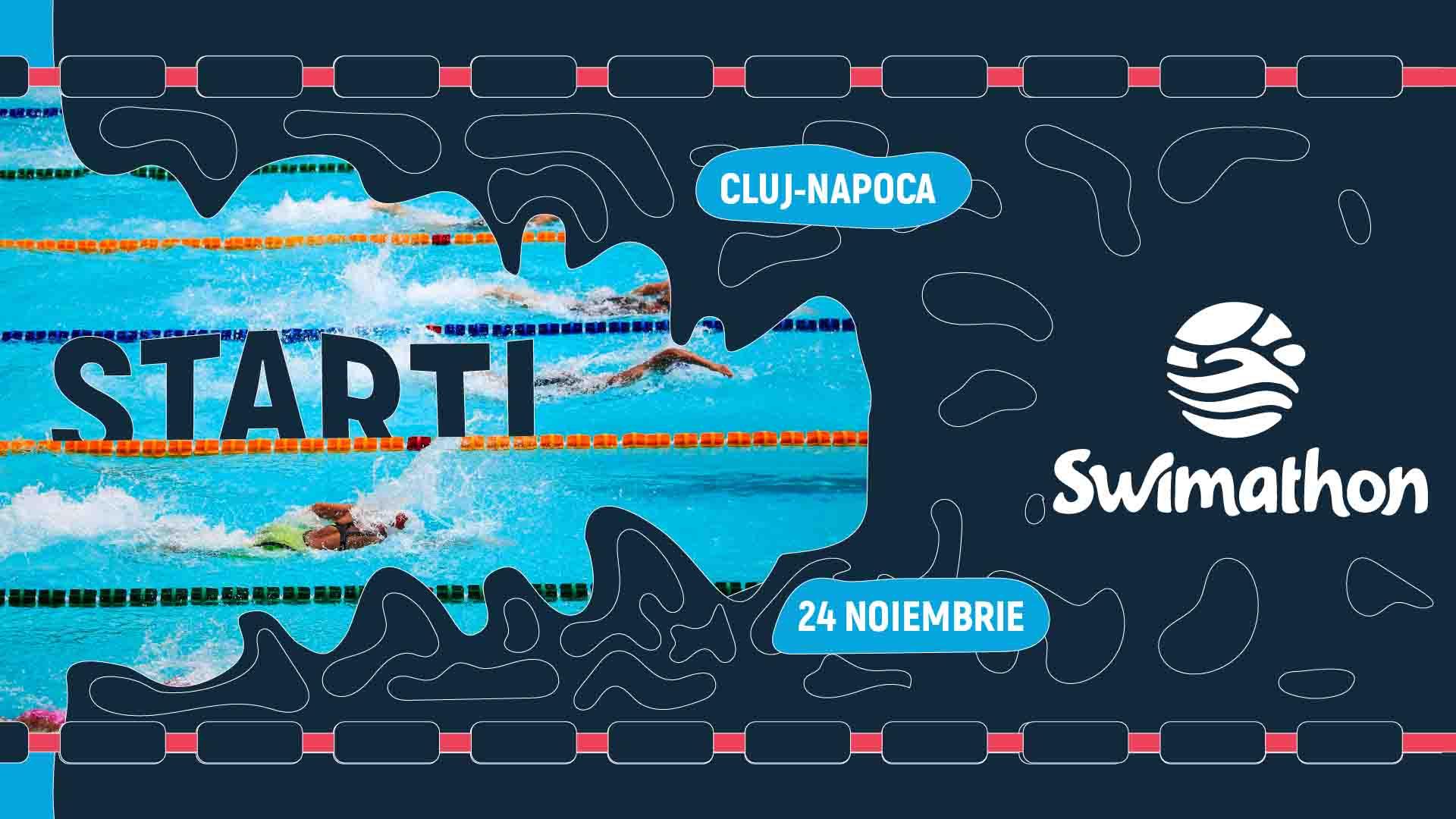 Sâmbătă se dă startul la Swimathon 2018! Peste 100 de clujeni s-au înscris pentru a înota în scop caritabil!