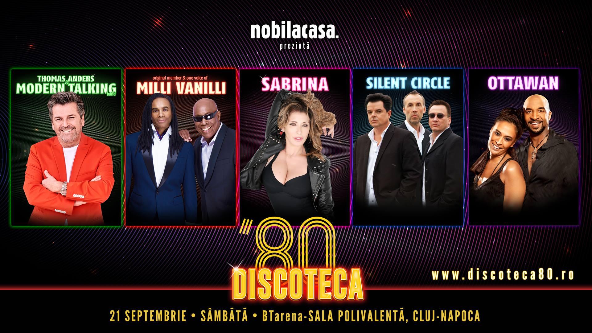 Thomas Anders & Modern Talking, Milli Vanilli, Sabrina, Silent Circle şi OTTAWAN, invitaţii ediţiei a treia DISCOTECA '80!