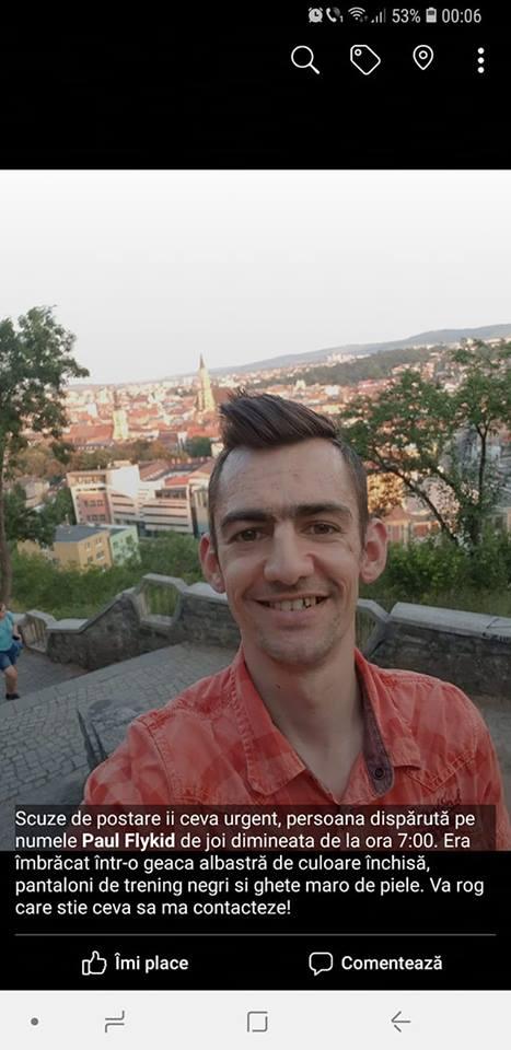 Un tânăr din Cluj a dispărut fără urmă de o săptămână şi este de negăsit! L-aţi văzut? FOTO
