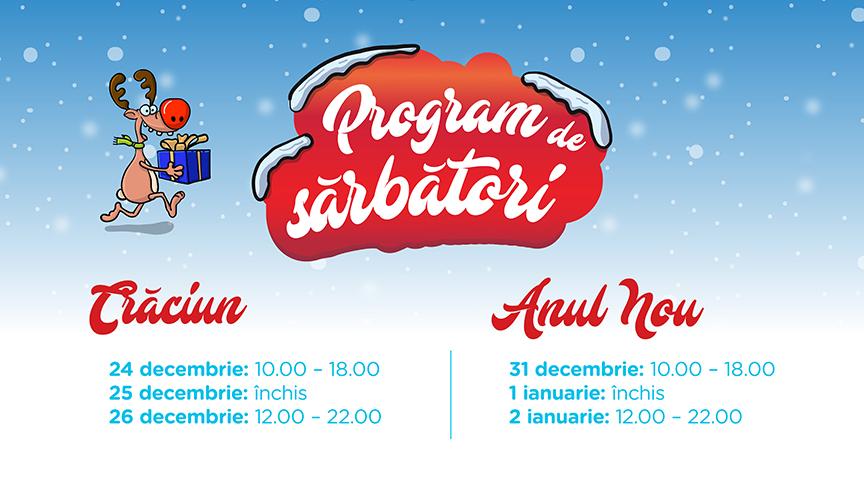 Programul de sărbători la Iulius Mall Cluj!