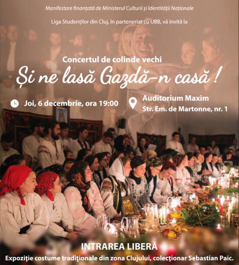 """Concert de colinde """"Şi ne lasă gazdă-n casă"""", de Moş Nicolae, cu intrare libera, la Auditorium Maximum!"""