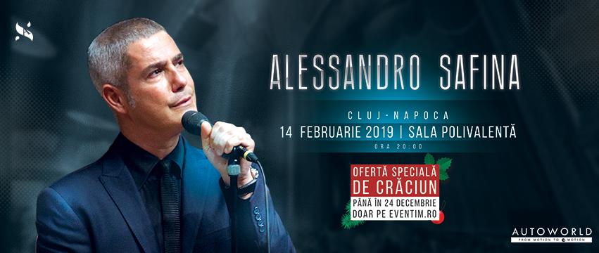 Safina iubește Clujul – CADOU de Crăciun: ofertă la biletele pentru concertul celebrului tenor italian ALESSANDRO SAFINA, pe 14 februarie 2019, la BTarena