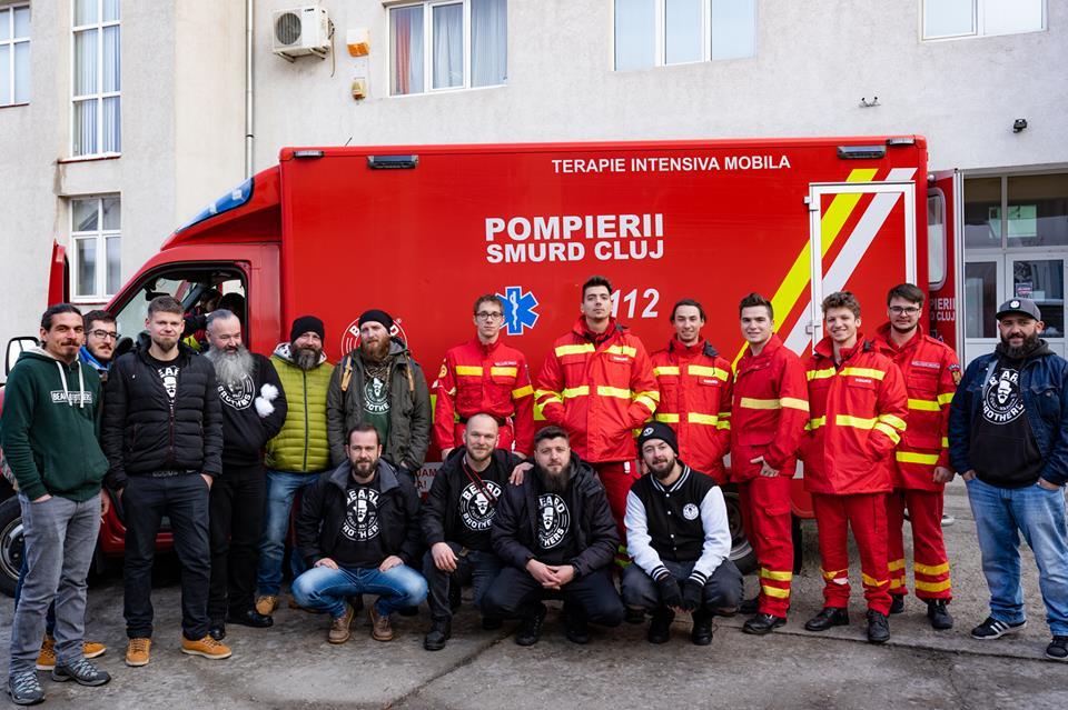 """RESPECT – """"Bărboşii"""" Clujului au reuşit să achiziţioneze şi livreze ambulanţa de tip C pentru SMURD Cluj! Urmează a doua!"""