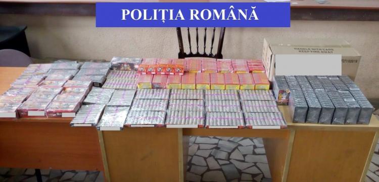 Aproape 80.000 de artificii şi petarde au fost confiscate de poliţiştii clujeni!
