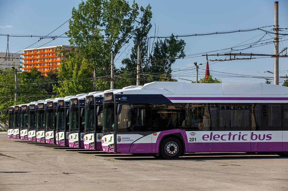 Autobuzele electrice au adus Clujului un nou premiu pentru eficiență energetică
