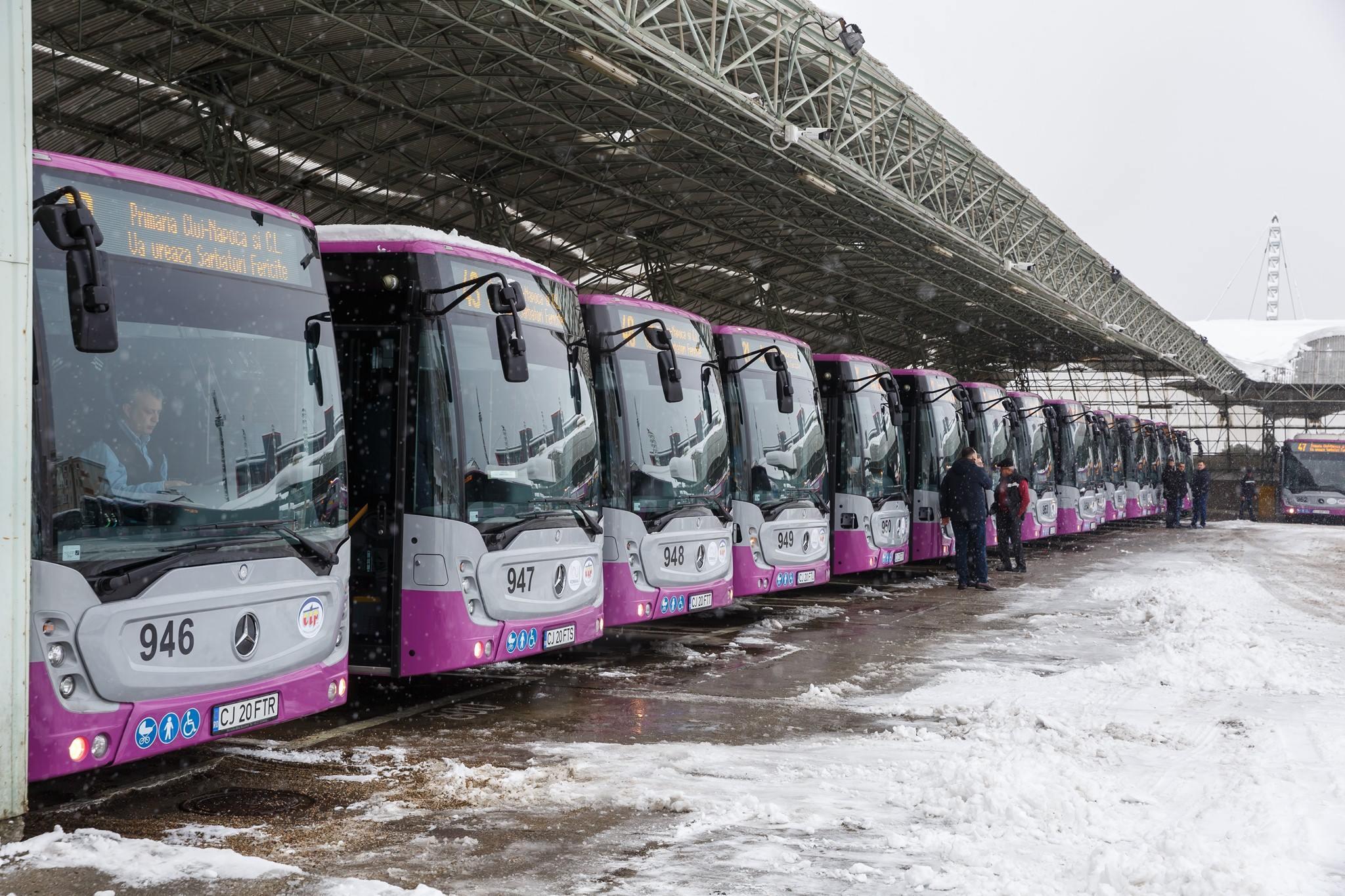 Alte 30 de autobuze Mercedes cu dotări de ultimă generație, puse în circulație la Cluj-Napoca!