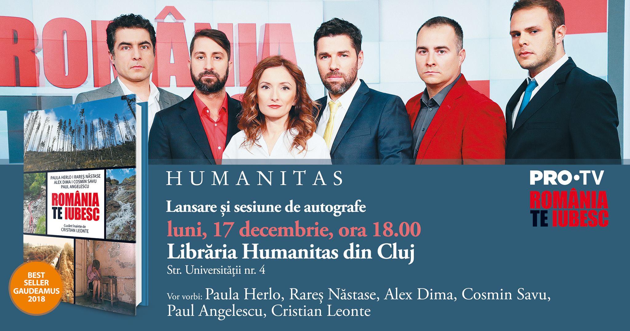 """Cartea """"România, te iubesc!"""" se lansează la Cluj!"""