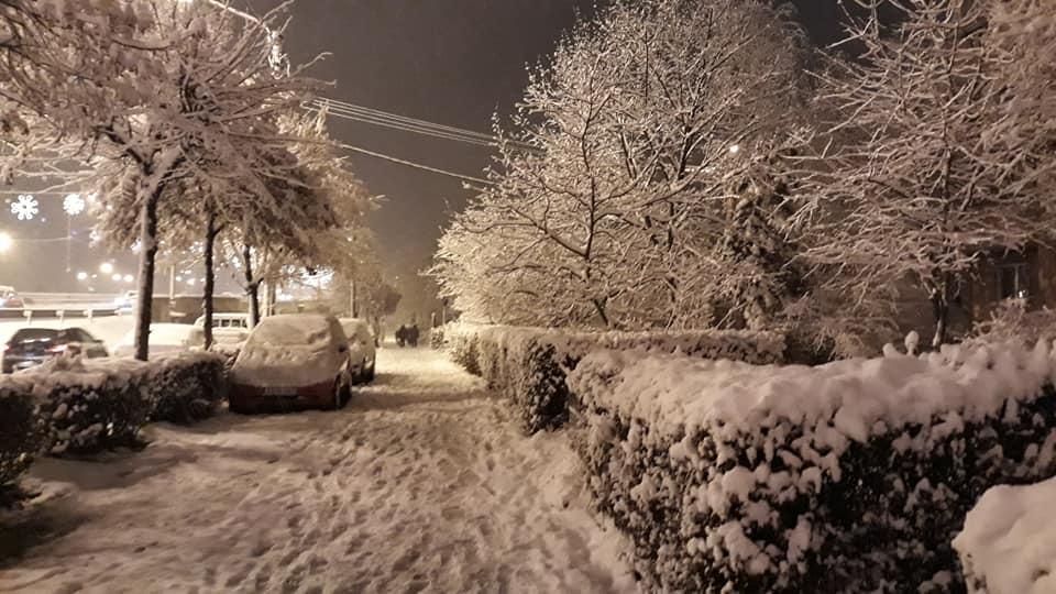 Iarnă à la Cluj – Primă zăpadă serioasă, surprinsă în imagini!