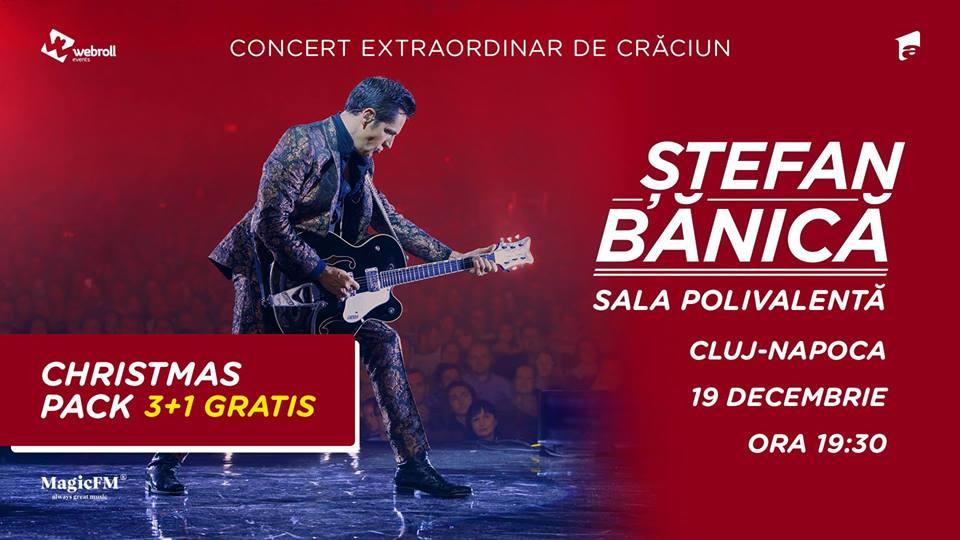 Ştefan Bănică jr., al treilea concert de Crăciun pe scena Sălii Polivalente din Cluj!