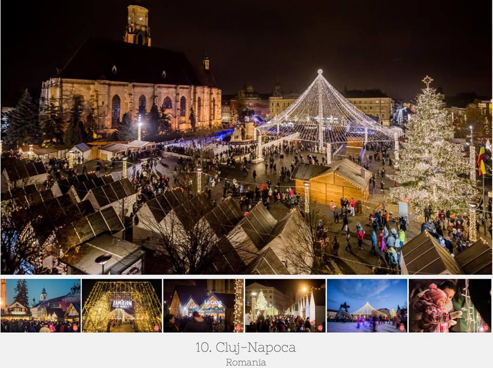 Târgul de Crăciun din Cluj-Napoca, în Top 10 cele mai frumoase târguri din Europa!