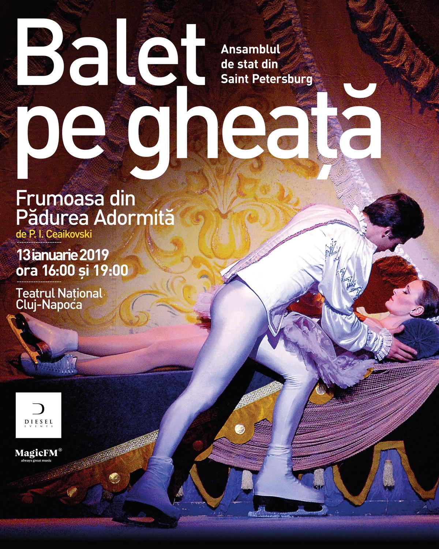 """Spectacolul """"Frumoasa din Pădurea Adormită"""", prezentat de Baletul pe Gheață din Sankt Petersburg, la Opera Națională din Cluj-Napoca"""