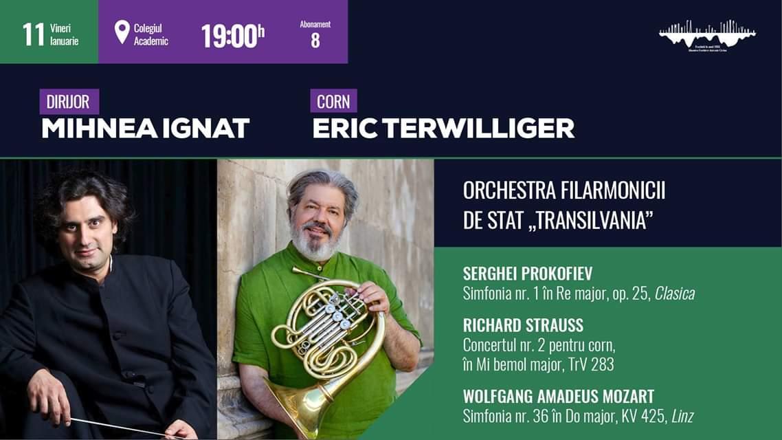 """Primul concert al anului la Filarmonica de Stat """"Transilvania"""" aduce la Cluj-Napoca legenda cornului, Eric Terwilliger"""