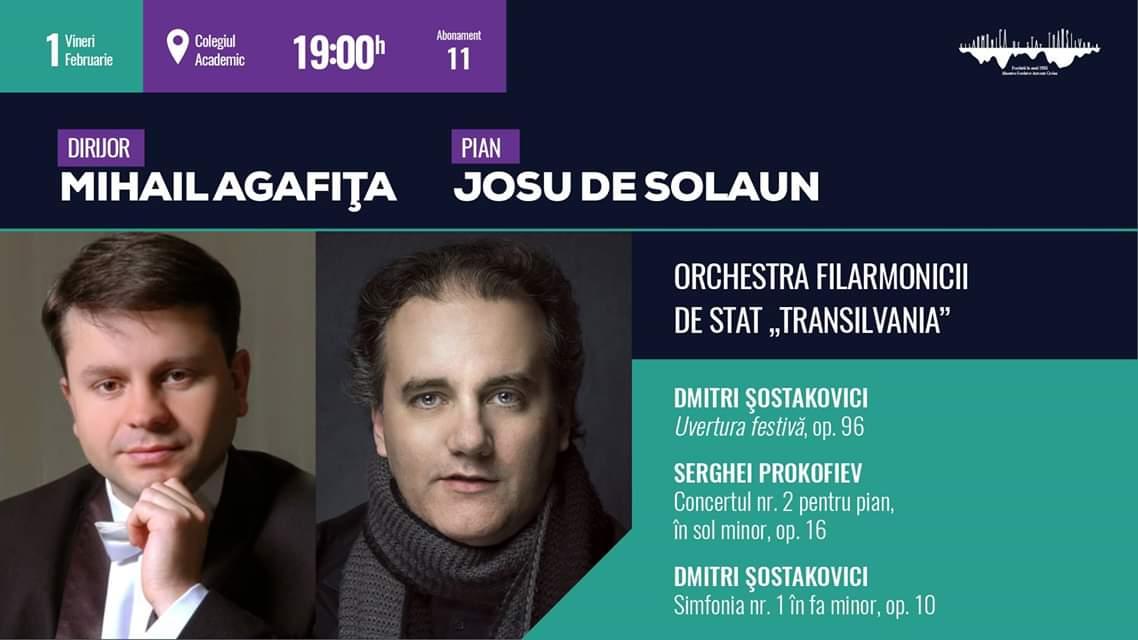 """Concert simfonic sub bagheta dirijorului Mihail Agafița, la Filarmonica de Stat """"Transilvania"""""""
