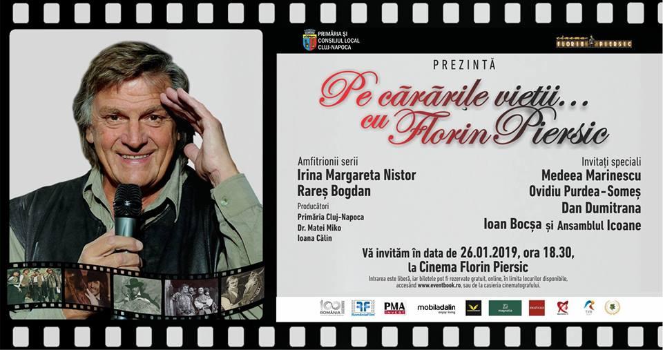 Ce invitați vor veni sâmbătă, 26 ianuarie, la ziua lui Florin Piersic și cine va prezenta evenimentul susținut cu 28.000 de euro din bani publici?