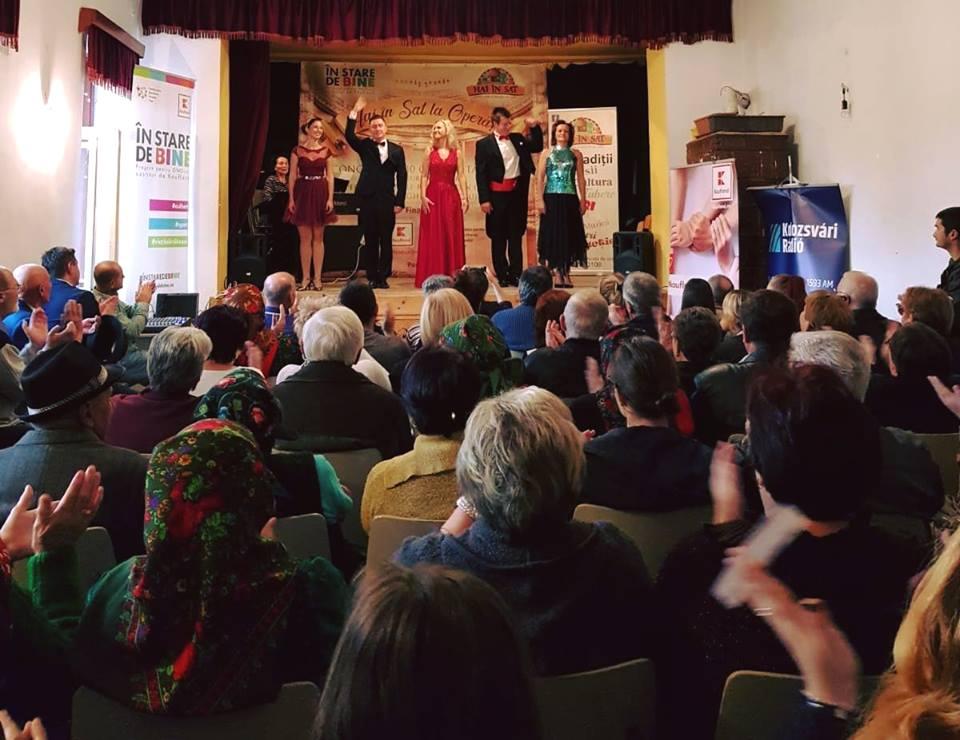 Satul are sete de cultură! Peste 1200 de oameni din mediul rural, participanți la spectacole de operă organizate în cămine culturale!