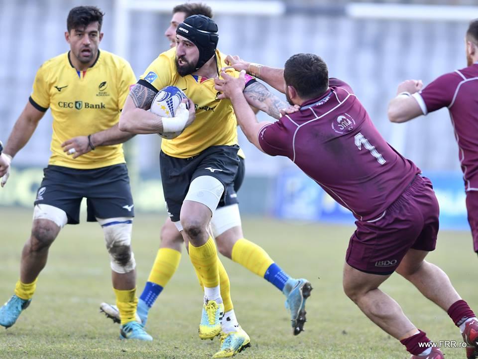 """""""Stejarii"""", învinși de Georgia pe Cluj Arena, în primul meci din cadrul Rugby European Championship"""