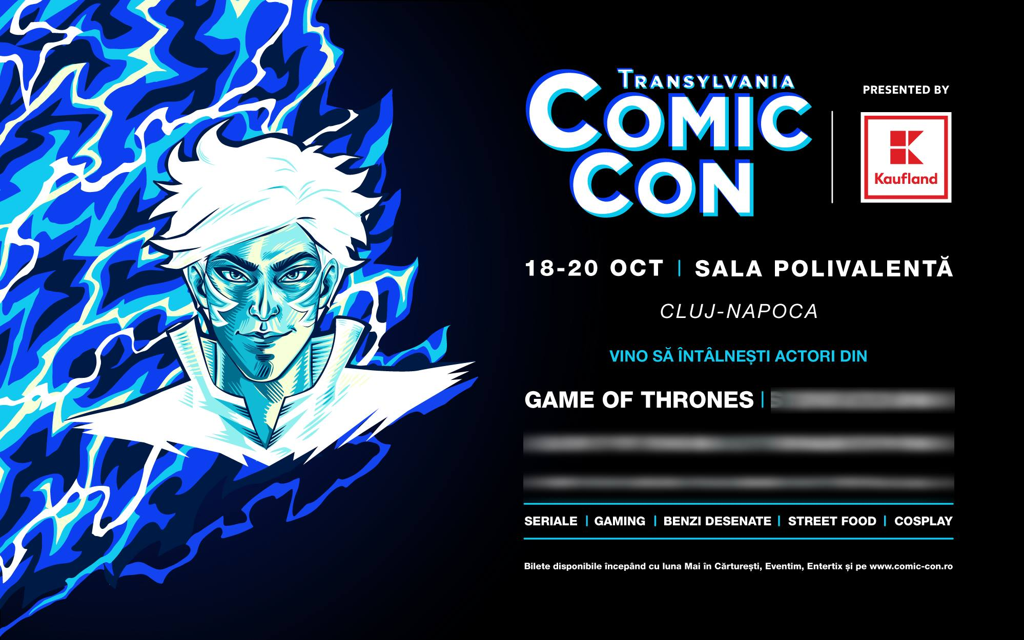 Actori din Game of Thrones vin la Cluj-Napoca, la Transylvania Comic Con!