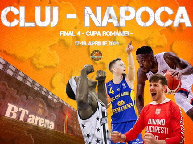 Final Four-ul Cupei României  şi All Star Game la baschet masculin, găzduit de Cluj-Napoca, în BT Arena!