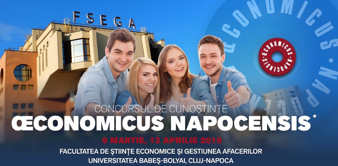 """Elevii care vor să se înscrie la FSEGA își pot crește media de admitere participând la concursul """"Oeconomicus Napocensis"""""""