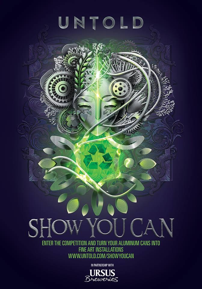 """UNTOLD Festival demarează competiția internațională """"Show you can!"""", pe tema reciclării!"""