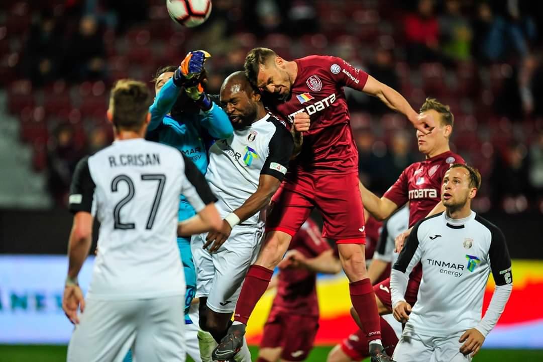 CFR Cluj, învinsă de Astra Giurgiu în prima manșă a semifinalelor Cupei României
