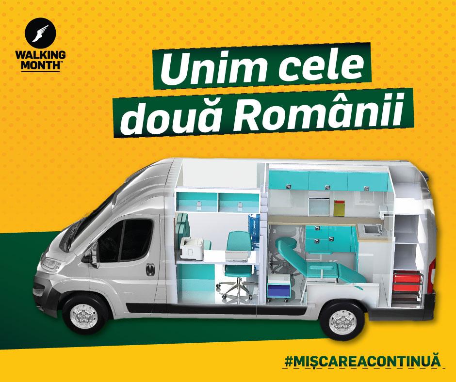 """Proiectul caritabil """"Walking Month"""" strânge bani pentru prima ambulanță socială din Transilvania"""