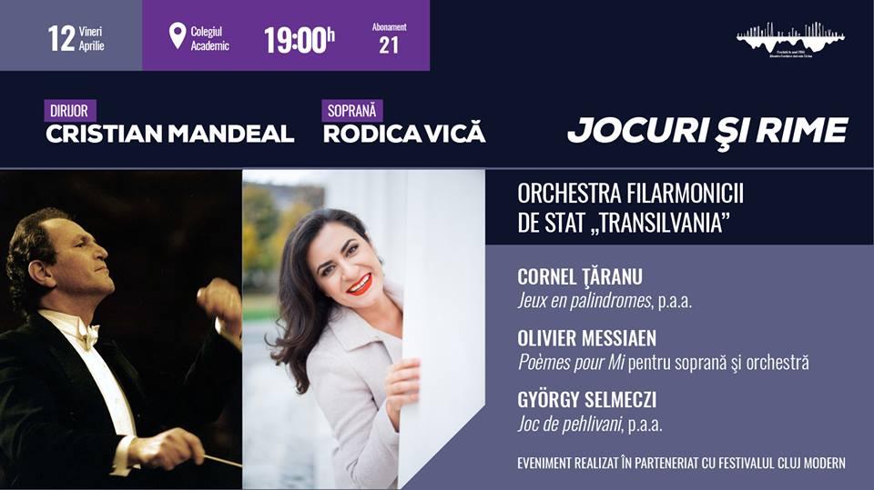 Concert simfonic sub bagheta dirijorului Cristian Mandeal, la Filarmonica Cluj