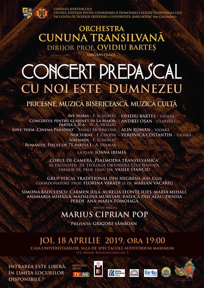 """""""Cu noi este Dumnezeu"""", concert de pricesne, muzică bisericească şi cultă, la Auditorium Maximum! INTRARE LIBERA"""