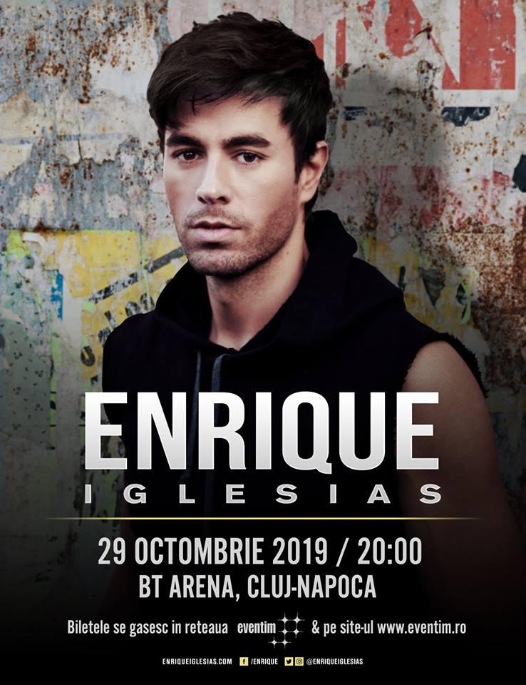 Toamnă pe ritmuri latino! Enrique Iglesias, concert în premieră la Cluj-Napoca, în BT Arena, pe 29 octombrie!