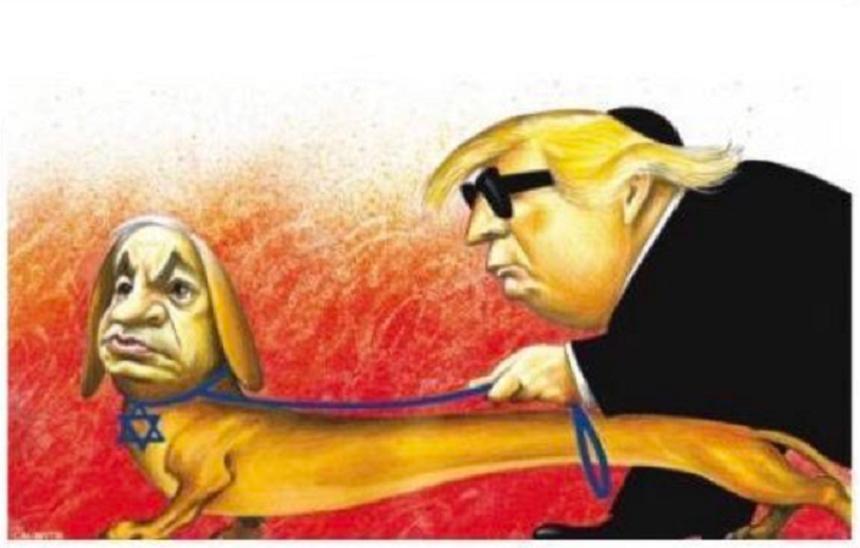 Cotidianul New York Times își cere scuze după ce publică o caricatură antisemită cu Netanyahu şi Trump