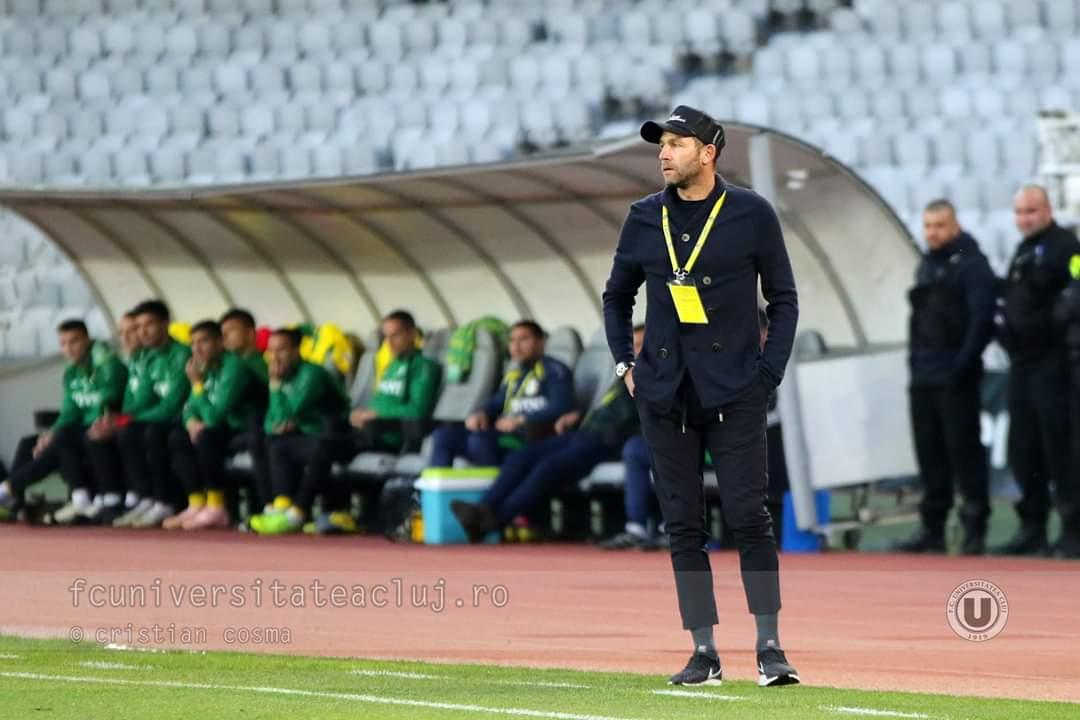 """Lobonț, mesaj de atașament pentru fanii lui """"U"""" Cluj: """"Sunt suporteri minunați care vin cu noi peste tot. Respect"""""""