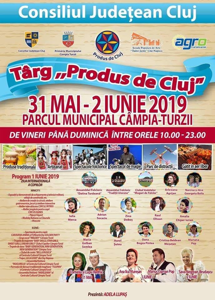 Târgul Produs de Cluj, de Ziua Internațională a Copilului, la Câmpia Turzii
