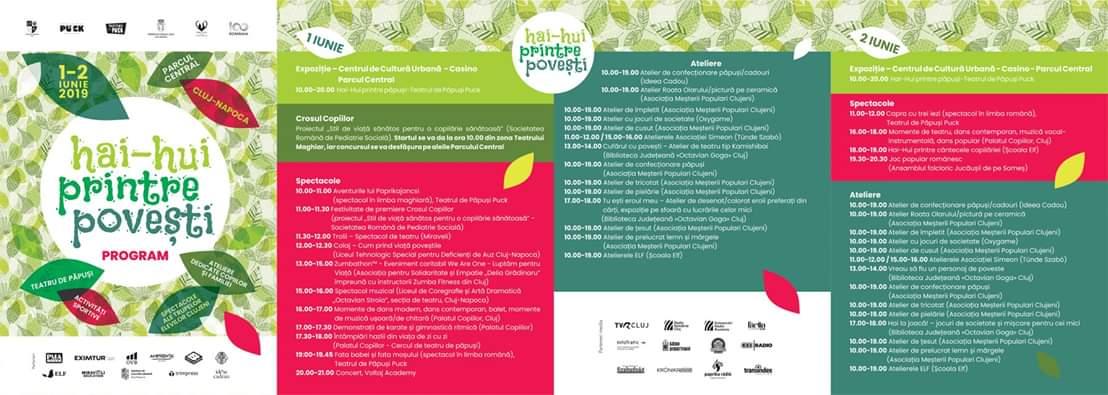 Ziua Copilului în Parcul Central din Cluj: Festivalul Hai-Hui printre povești!