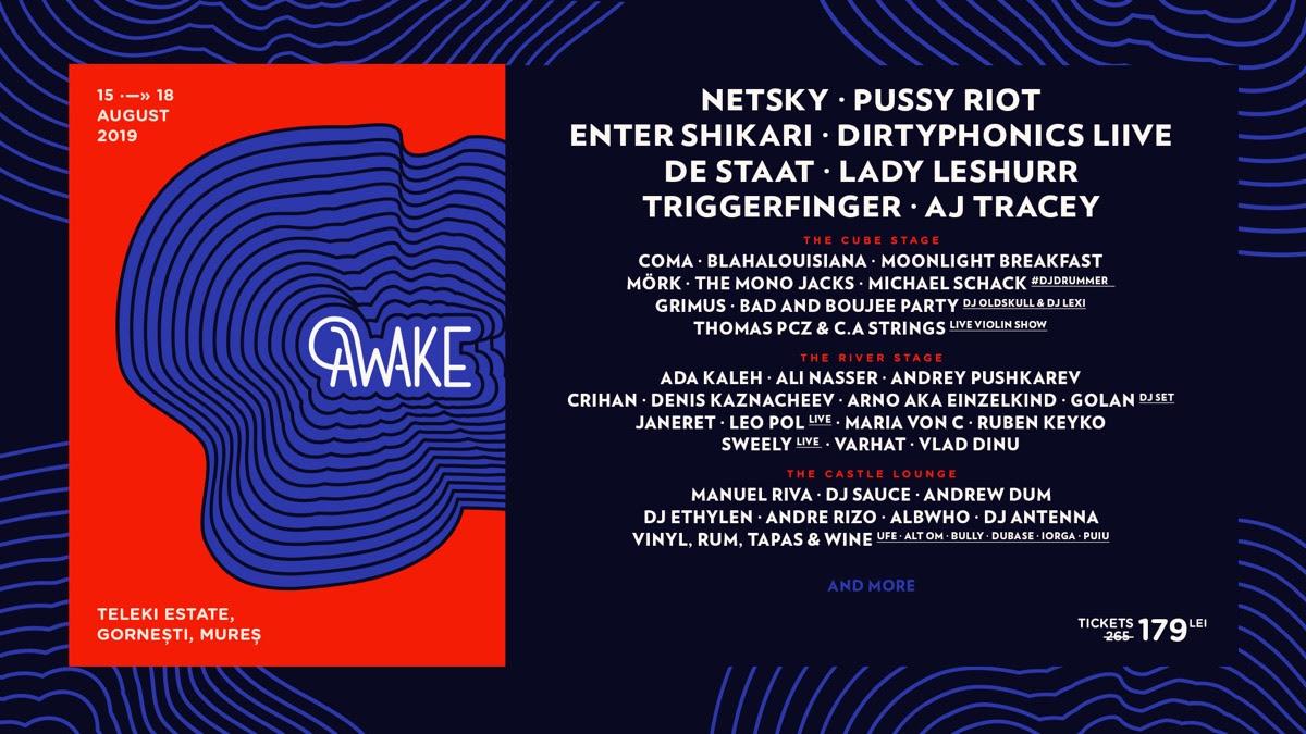 Noi artiști la #AWAKE3: Enter Shikari, Coma și mulți alții!