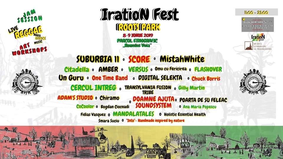 Începe IratioN Fest – Roots Park, festivalul muzicii reggae, în Parcul Etnografic din Hoia