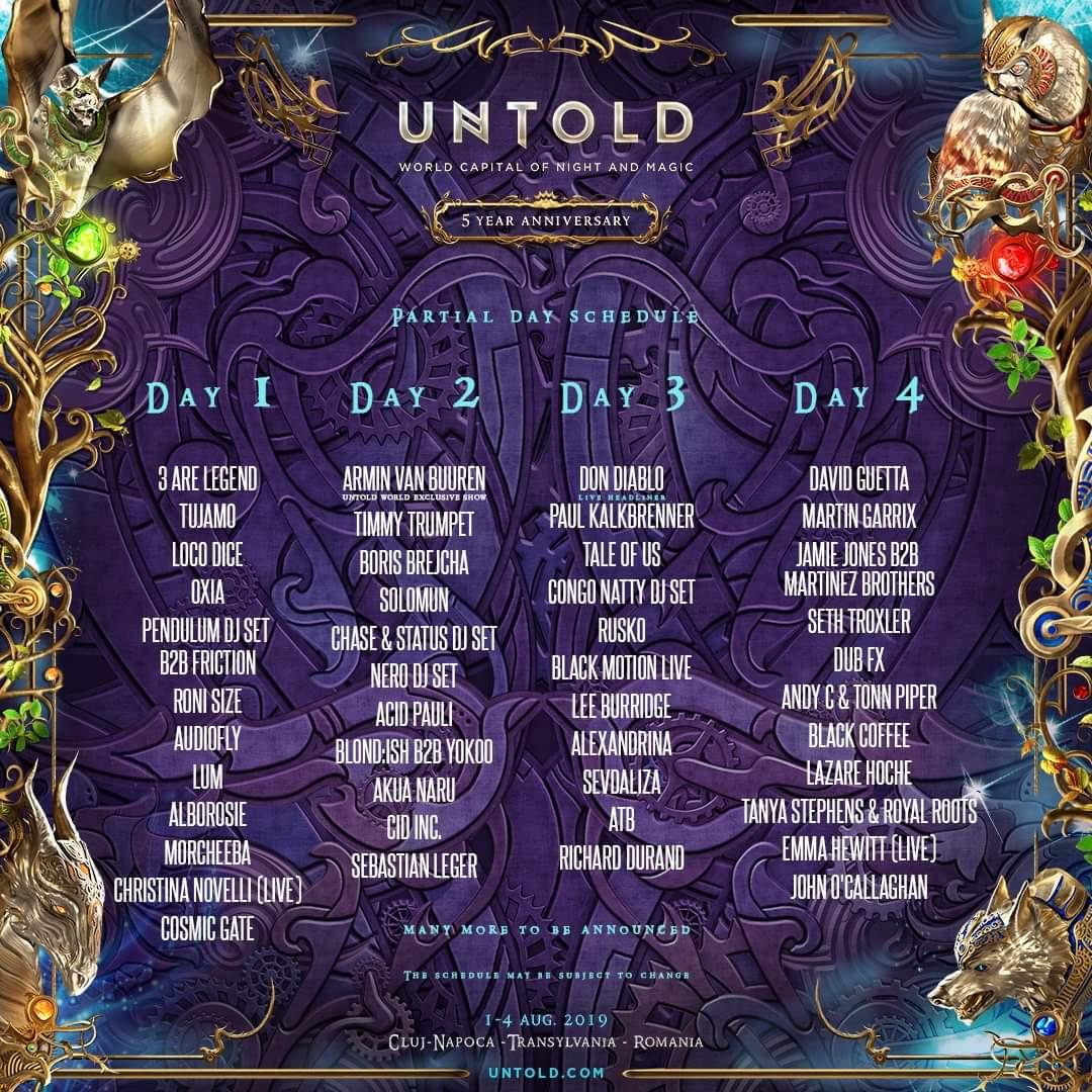 UNTOLD a publicat programul pe zile și a pus în vânzare biletele de o zi! Nu a fost stabilită ziua show-ului lui Robbie Williams!