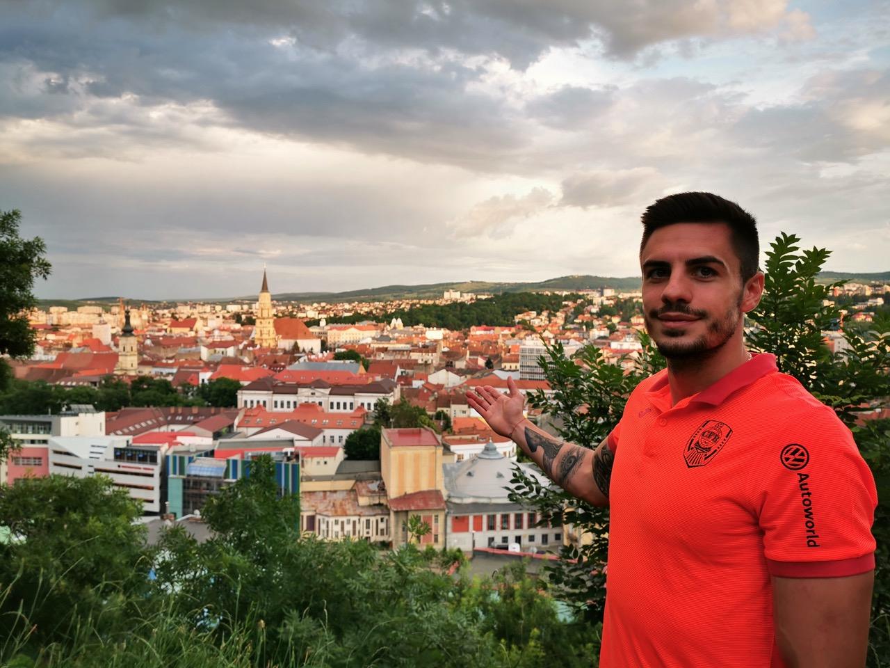 """Andrei Burcă, noul fundaș al CFR-ului: """"Am visat de mic să joc în Liga Campionilor"""""""