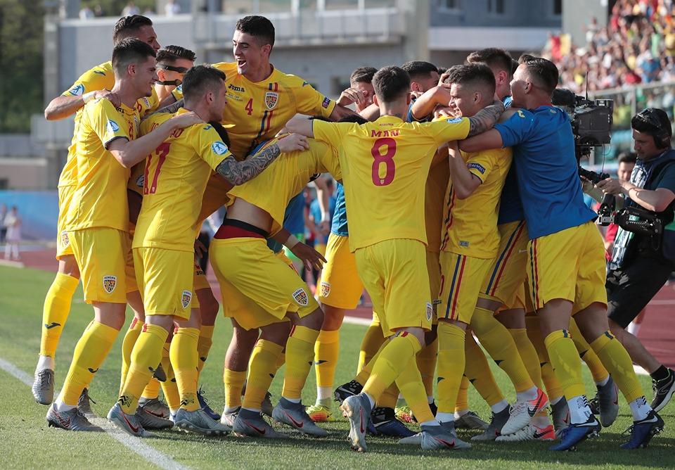 Seară istorică – ROMÂNIA, victorie de neuitat cu 4-2 în fața ANGLIEI la Europeanul de Tineret și e la un pas de semifinale!