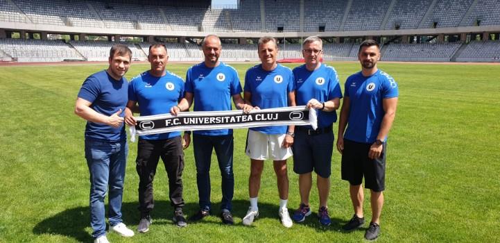 """""""U"""" Cluj pornește la drum în Liga a 2-a cu noi ambiții și un nou staff tehnic"""