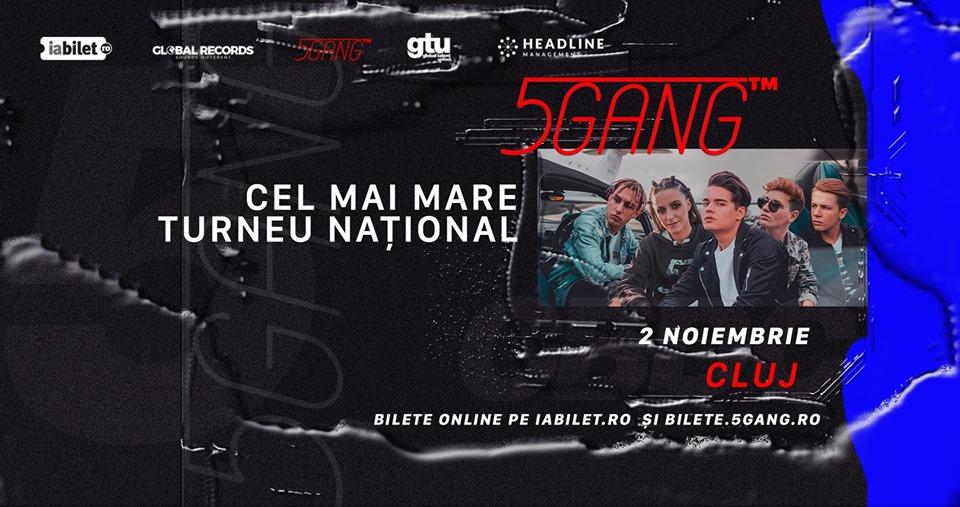 Cea mai în vogă trupă a momentului pe Youtube, 5GANG, concert la Cluj-Napoca în noiembrie!