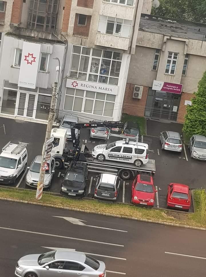 Mașina de la Poliția Locală, ridicată de RADP Cluj-Napoca!