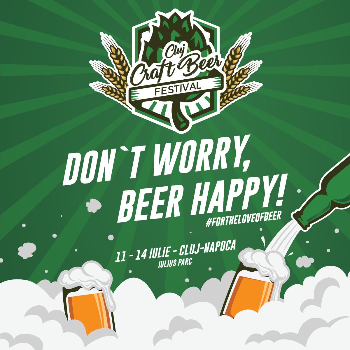 Peste 134 tipuri diferite de bere artizanală şi peste 20 de producători la cea de-a treia ediție Cluj Craft Beer Festival, în Iulius Parc!