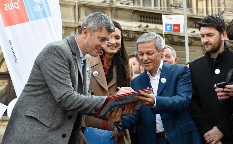 Liderii USR-PLUS, Dan Barna și Dacian Cioloș, vin duminică la Cluj-Napoca