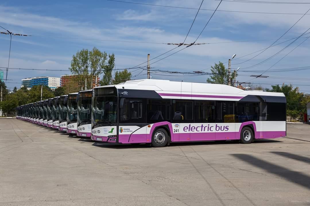Clujul, orașul cu cele mai multe autobuze electrice din România. Încă 20 au intrat joi în circulație, iar numărul lor a ajuns la 41!