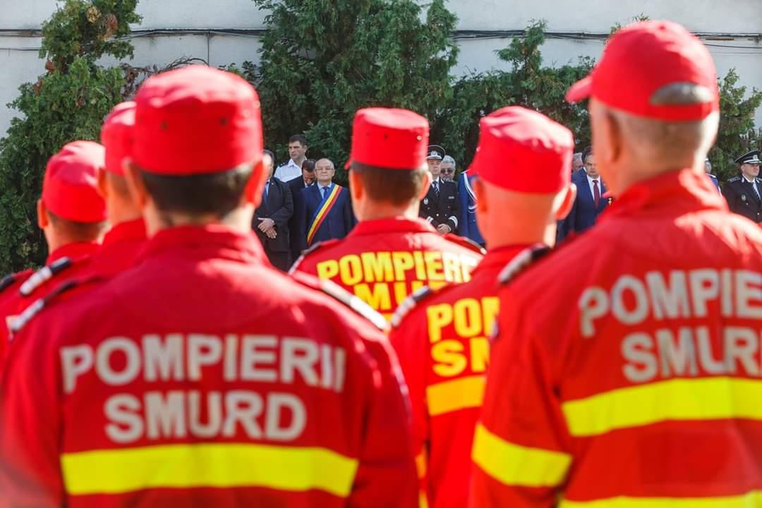 Pompierii, sărbătoriți astăzi la Cluj-Napoca de oficialitățile locale și județene – FOTO