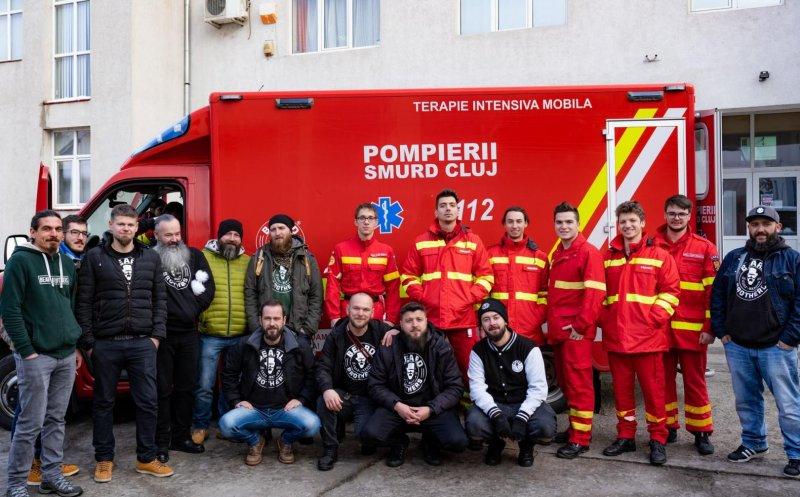De Ziua Pompierului, Bărboșii Clujului donează a doua ambulanță pentru SMURD Cluj