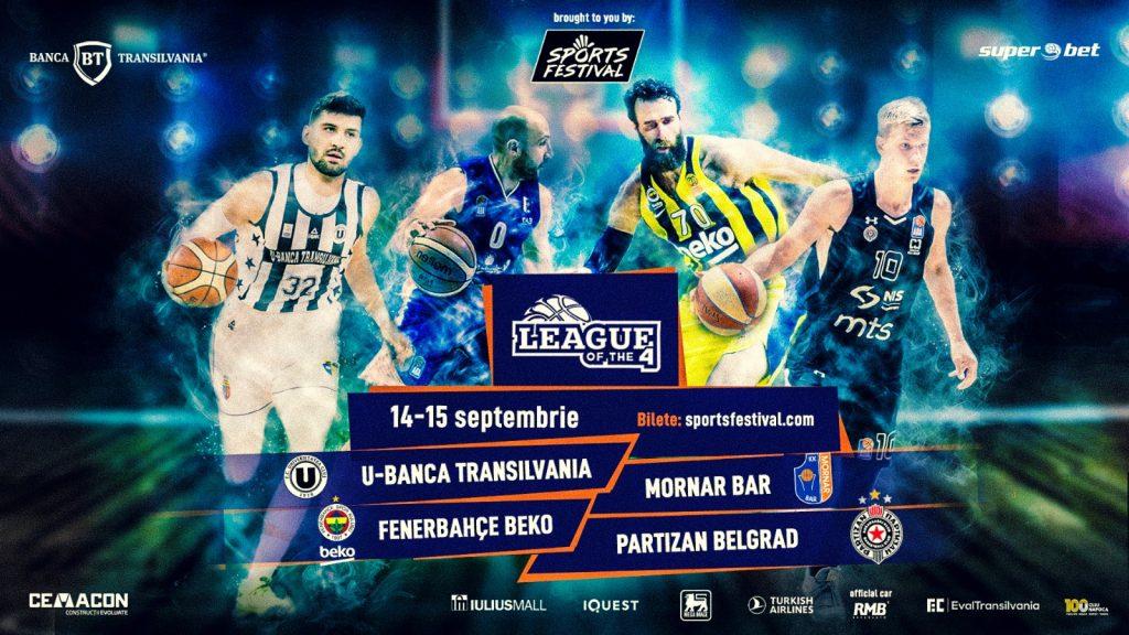 Vedetele baschetului european de la Fenerbahce Beko vin la Cluj pentru un turneu de senzație la Sports Festival, alături de Partizan Belgrad, U-Banca Transilvania și Mornar Bar